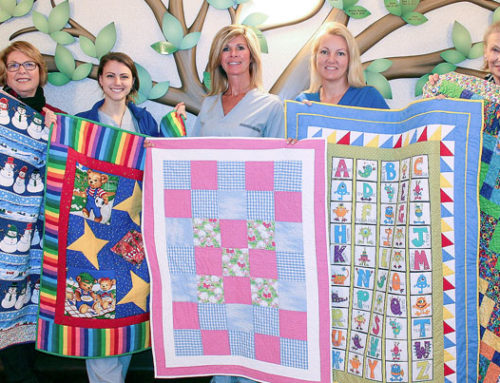 Brant Heritage Quilters Guild bring winter warmth to BCHS' youngest patients