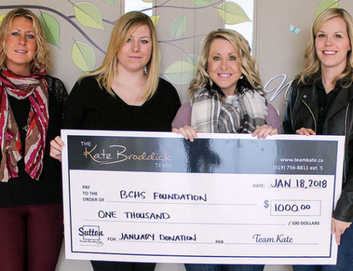 Kate Broddick Team begins monthly donations to BCHS Foundation