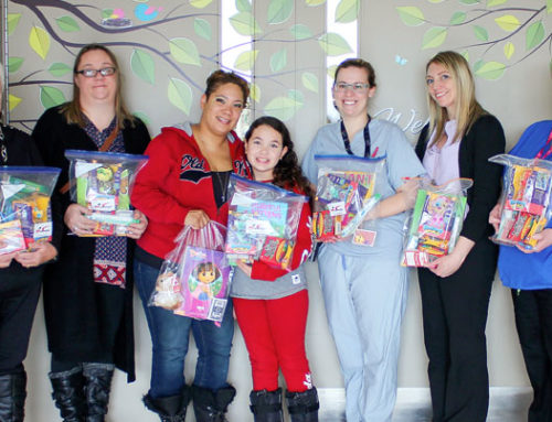 DSS Trucking Services Ltd. gifts busy bags to Paediatrics